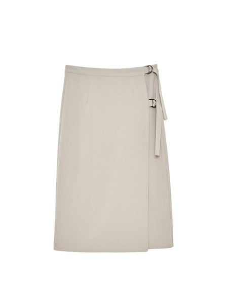 Faye Wrap Skirt / Tan Bi Stretch