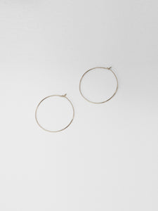 Threader Hoops / 40mm / Sterling Silver