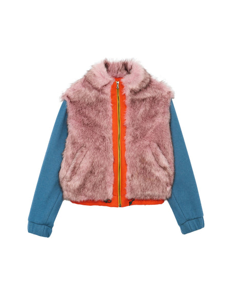 Sally Bomber / Faux Fur Multi