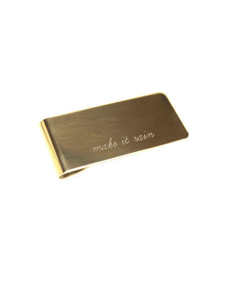 IGWT - Money Clip / Make It Rain / Brass