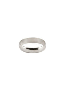 4mm Classic Commitment Band / 14k White Gold