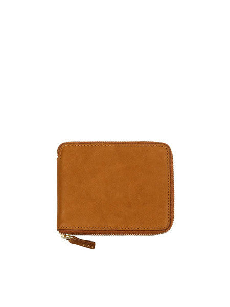 Minor History - Coupe Zip Wallet / Oiled Saddle