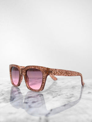 Sunglasses - Glitter / Rose Gold