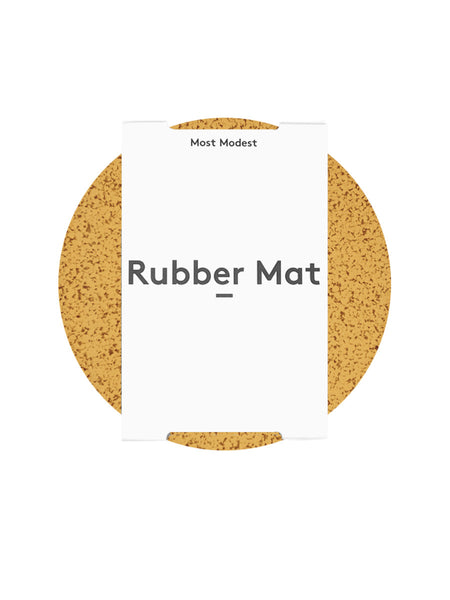 "Most Modest - 11"" Rubber Mat / Marbled Gold"