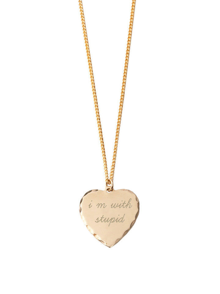 Sweet Nothing Necklace Brass / I