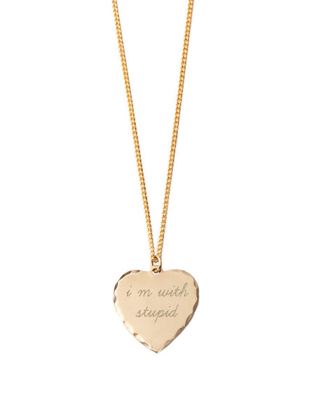 Sweet Nothing Necklace Brass / I'm With Stupid