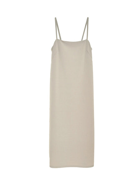 Joni Long Dress / Tan Bi Stretch