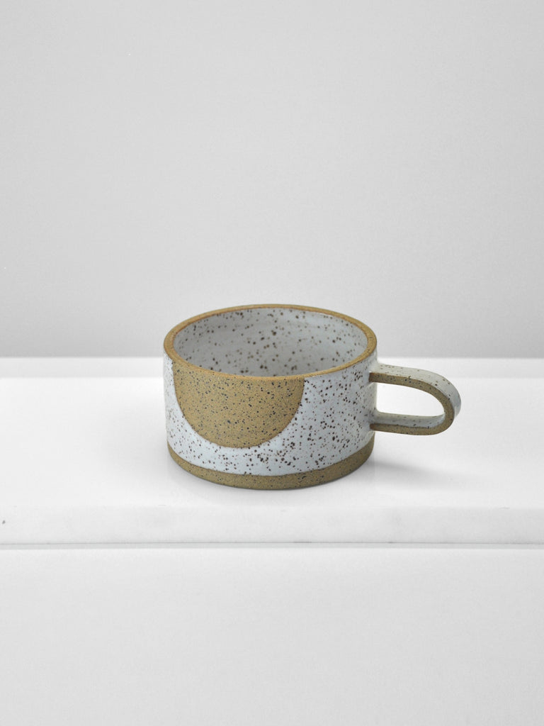Mimi Ceramics - Short Speckle Mug / Ghost Dot
