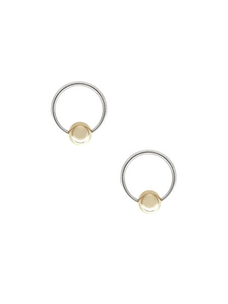 Reverse Nadia Bead Hoop Earrings