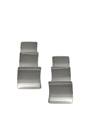 Vintage - Stacked Square Earrings / Sterling Silver
