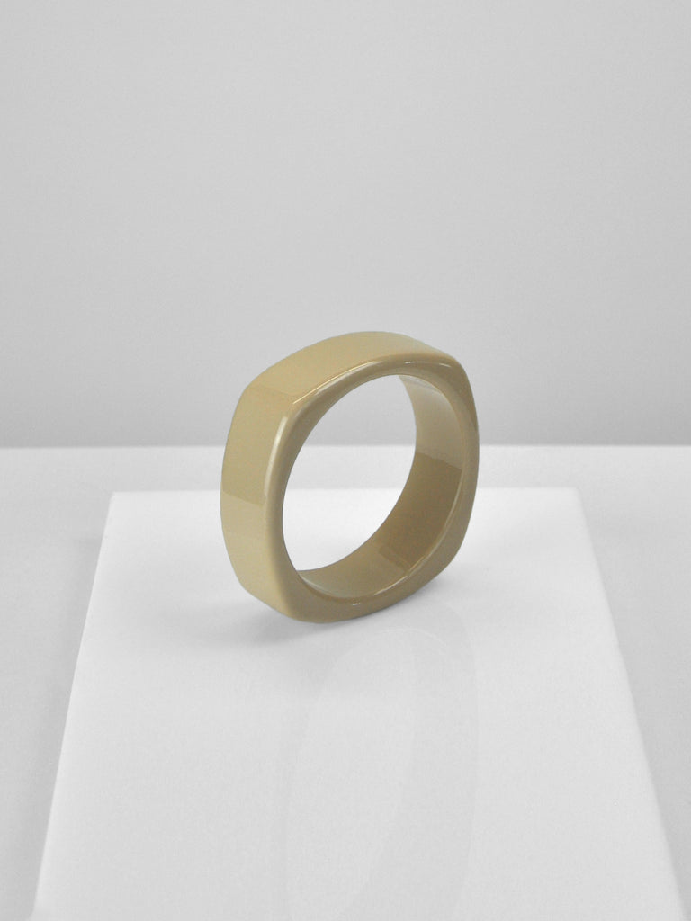 Acrylic Bangle - Square Camel