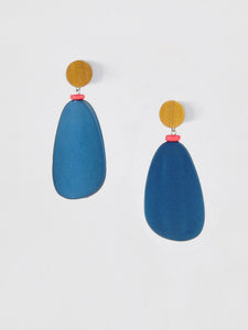 afterimage earrings no.09 / blue
