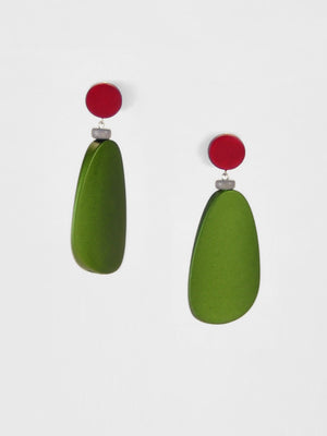 afterimage earrings no.09 / green