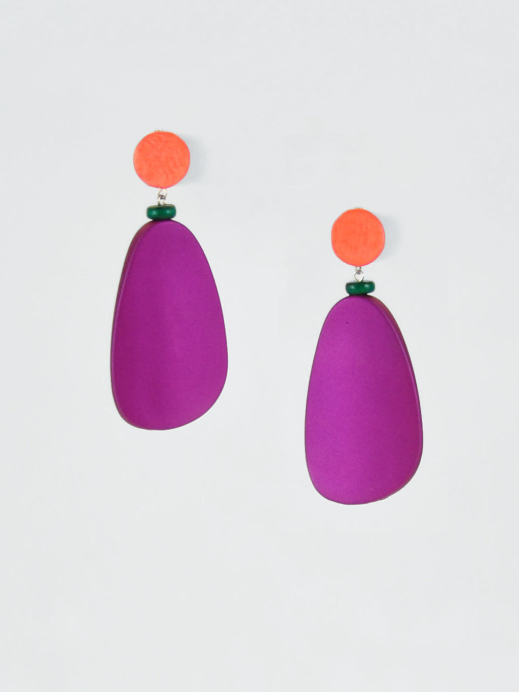afterimage earrings no.09 / purple