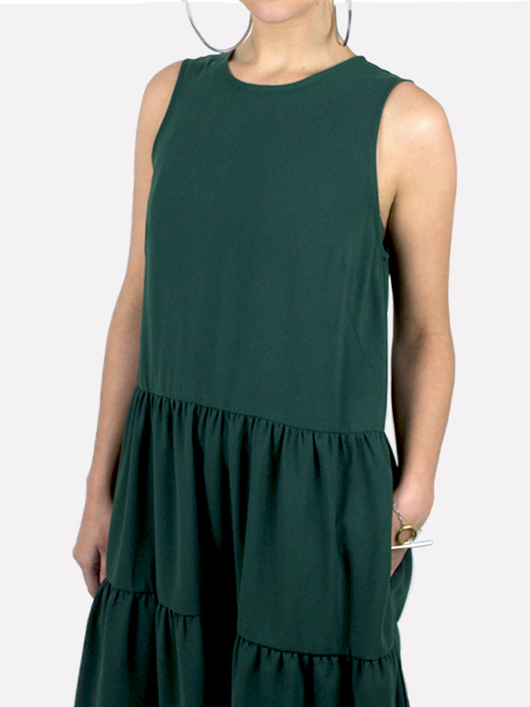 Alice Dress / Green Georgette