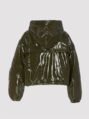 Apparis - Colby Vegan Leather Windbreaker / Hunter Green