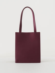 Baggu - Medium Leather Retail Tote / Cranberry