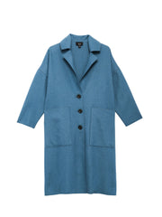 Beth - Cabin Coat / Dark Blue Wool Melton