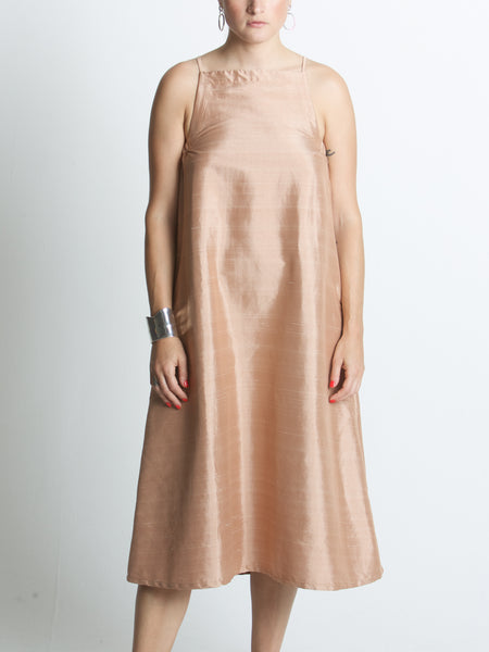 Beth - Yard Dress / Terracotta Dupioni