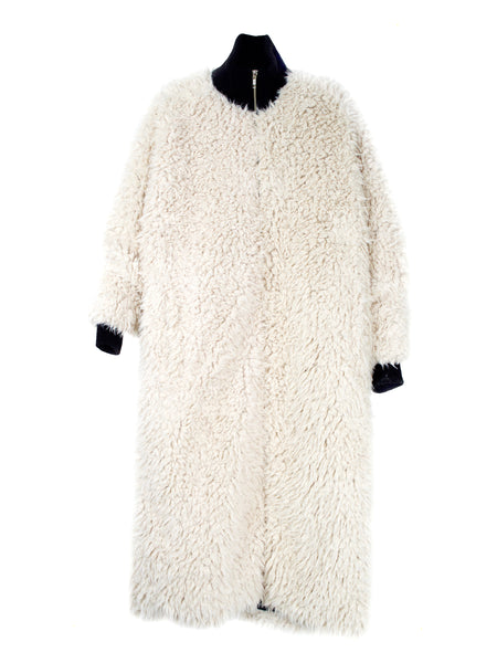 Blob Coat / Off White Fur
