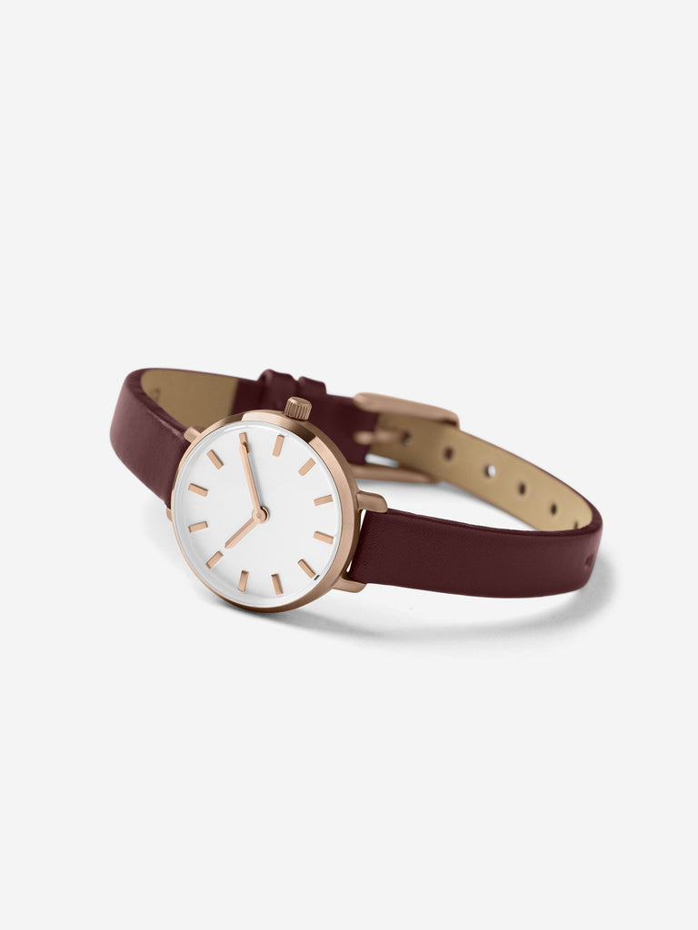 Breda - Beverly Watch / White & Maroon