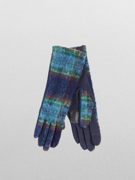 Echo - Brushed Plaid Glove / Navy