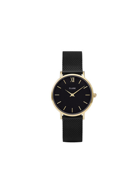 Cluse - Minuit Mesh Watch / Black & Gold