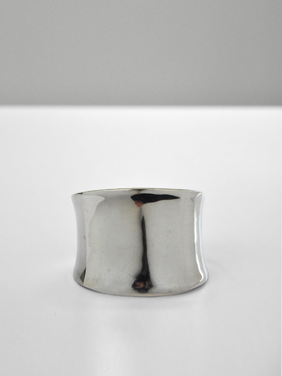 Vintage - Wide Concave Cuff / Sterling Silver