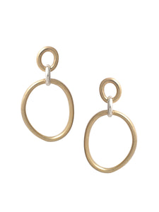 Cory Deux Earrings / Brass