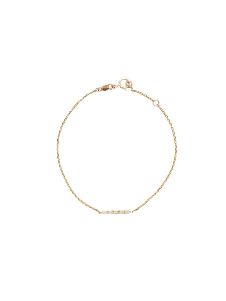 Diamond Bar Bracelet / Gold