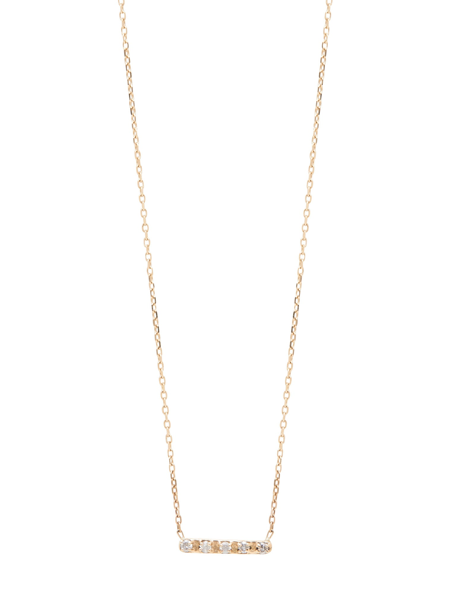 Diamond Bar Necklace / Gold