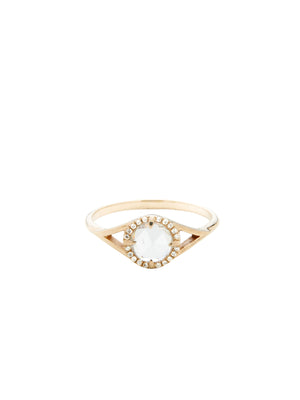 Dylan Ring with Pave / 14kt Yellow Gold / White Diamond