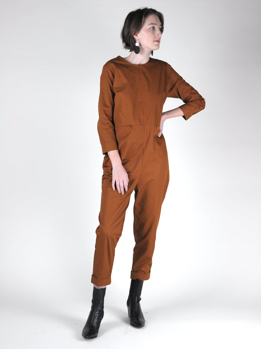 Emery Jumpsuit / Chestnut