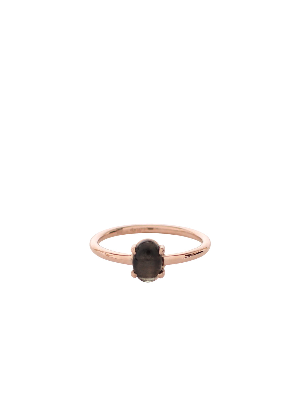 Fulton Ring / Rose Gold With Black Star Sapphire