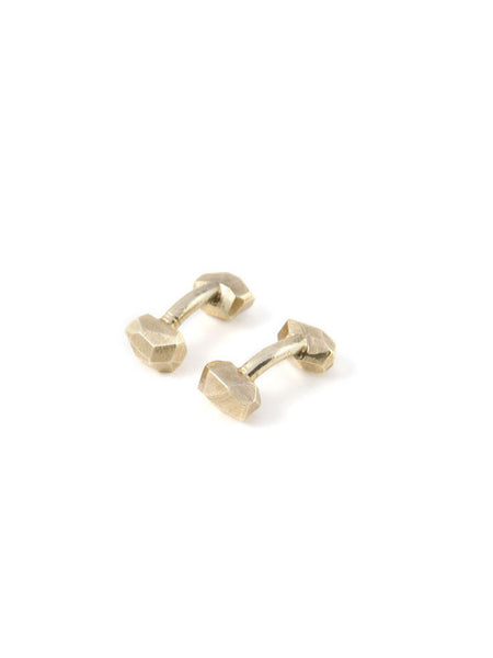 Geo Cufflinks / Brass