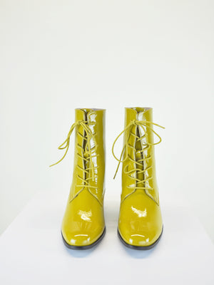 Intentionally Blank - Mox Boot / Mustard Patent Leather