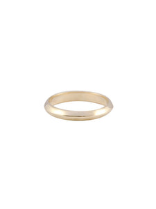 Wide Knife-Edge Commitment Band / 14kt Yellow Gold