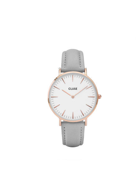 Cluse - La Boheme Rose Gold Watch / White & Grey