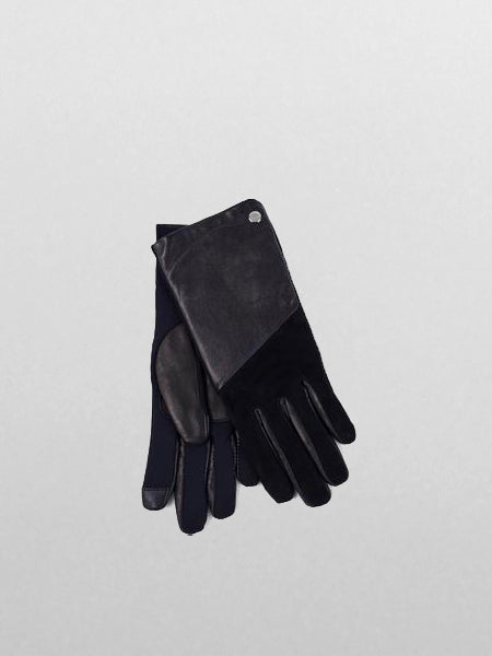 Echo - Leather Block Superfit Glove / Black