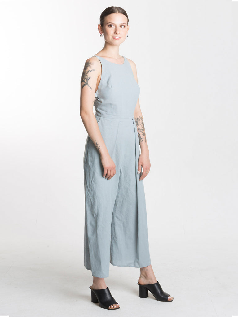 Leeward Jumpsuit / Dusty Blue Linen