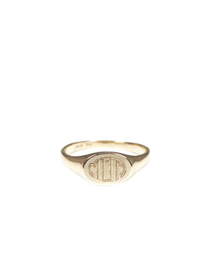Mom Signet Ring / Gold