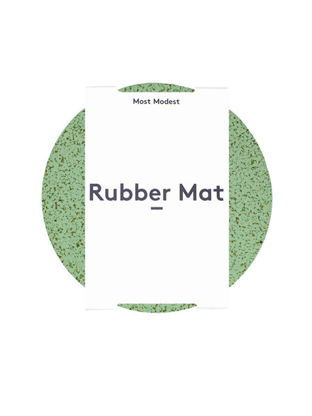 "Most Modest - 11"" Rubber Mat / Marbled Green"