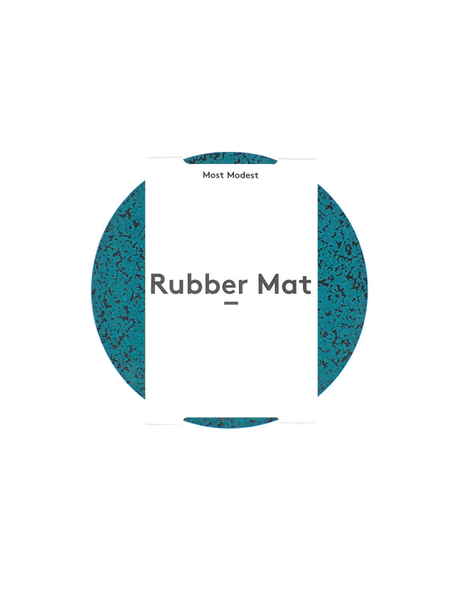 "Most Modest - 7"" Rubber Mat / Marbled Teal"