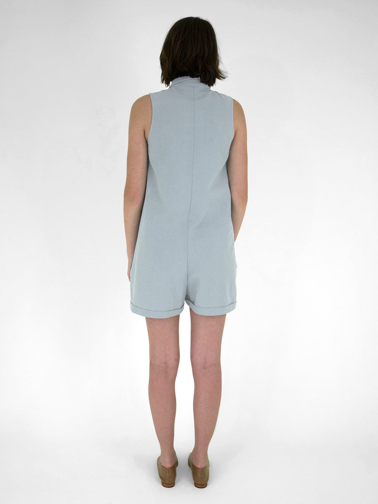 Nova Romper / Dusty Blue Linen