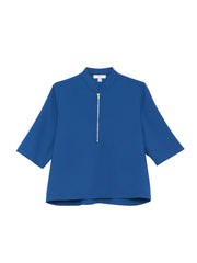 Percy Top / Blue Georgette