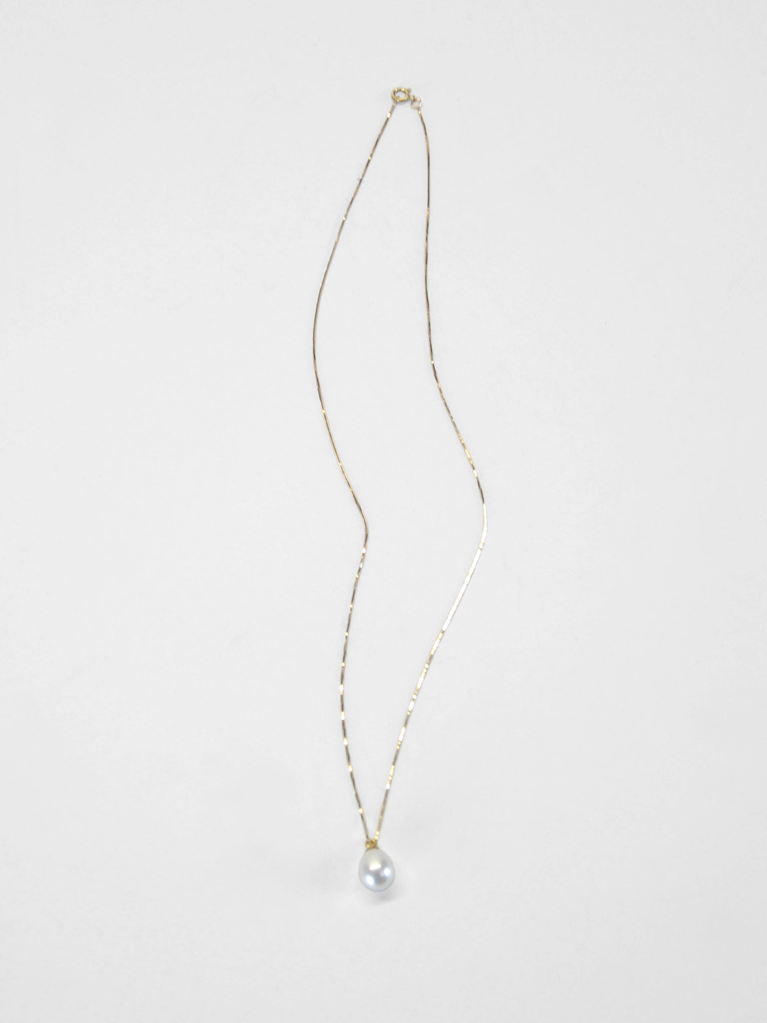Pippa Pearl Necklace / Yellow Gold & White Pearl