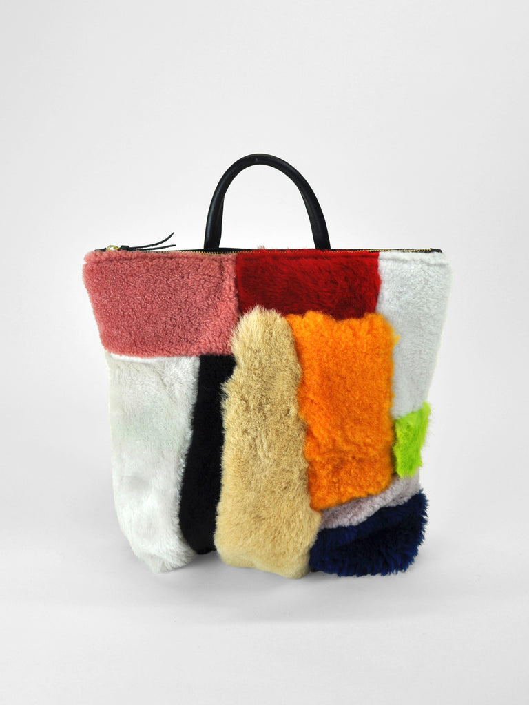 Primecut - Backpack / Patchwork Sheepskin