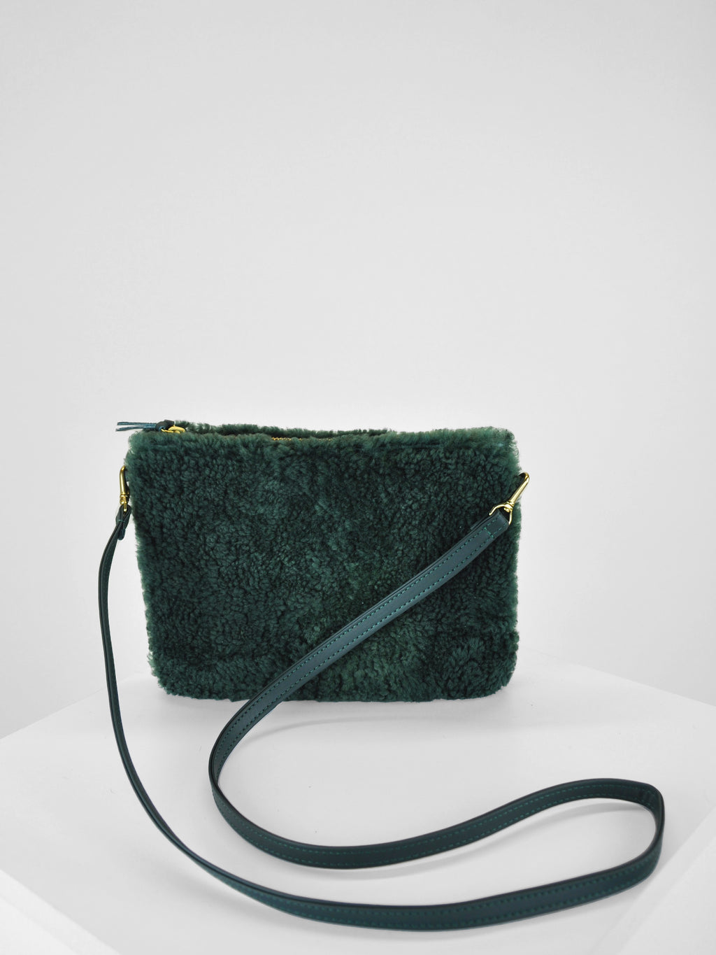 Primecut Sheepskin Pouch Purse / Green