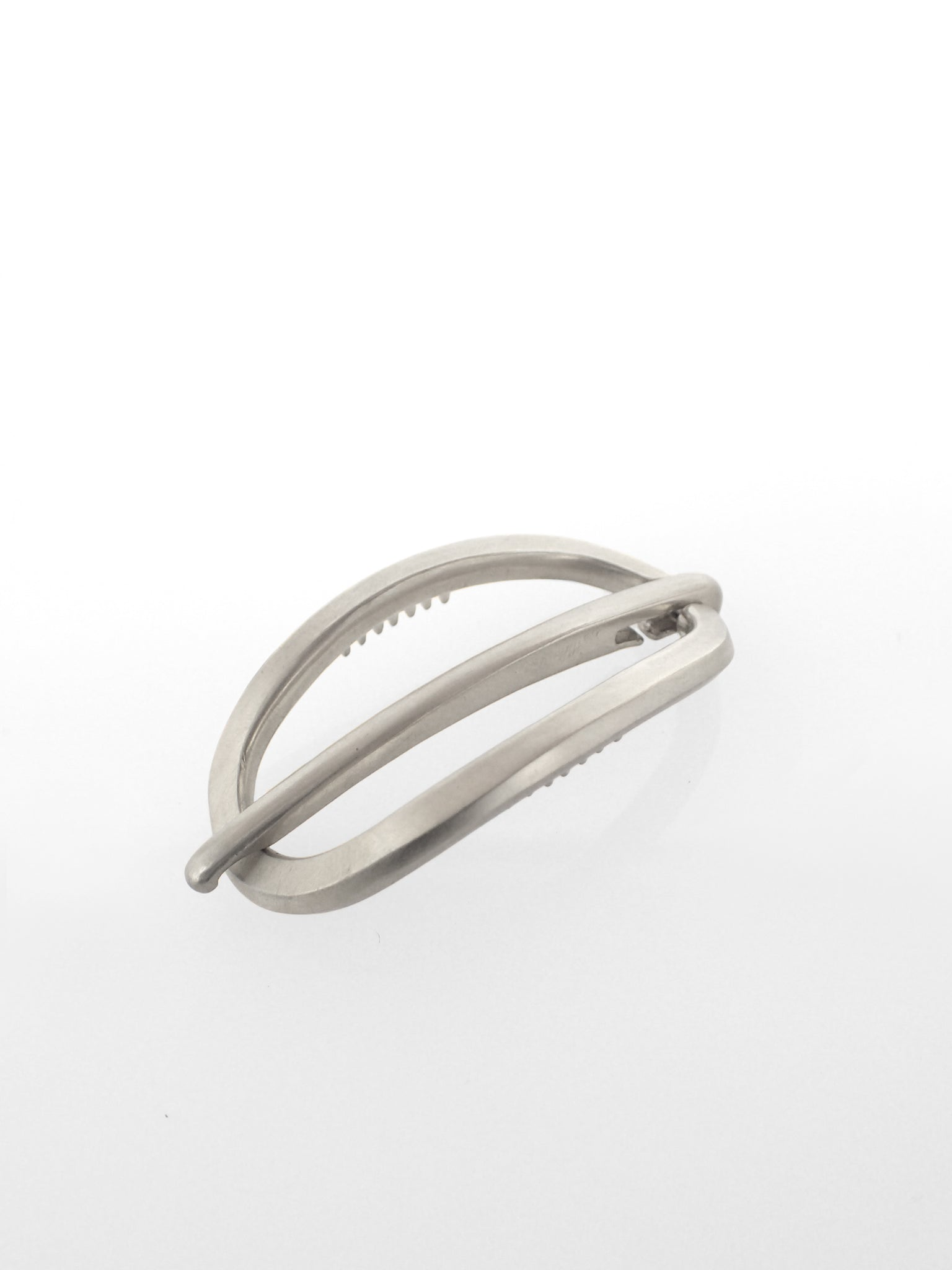 Rosen Latch Barrette / White Brass