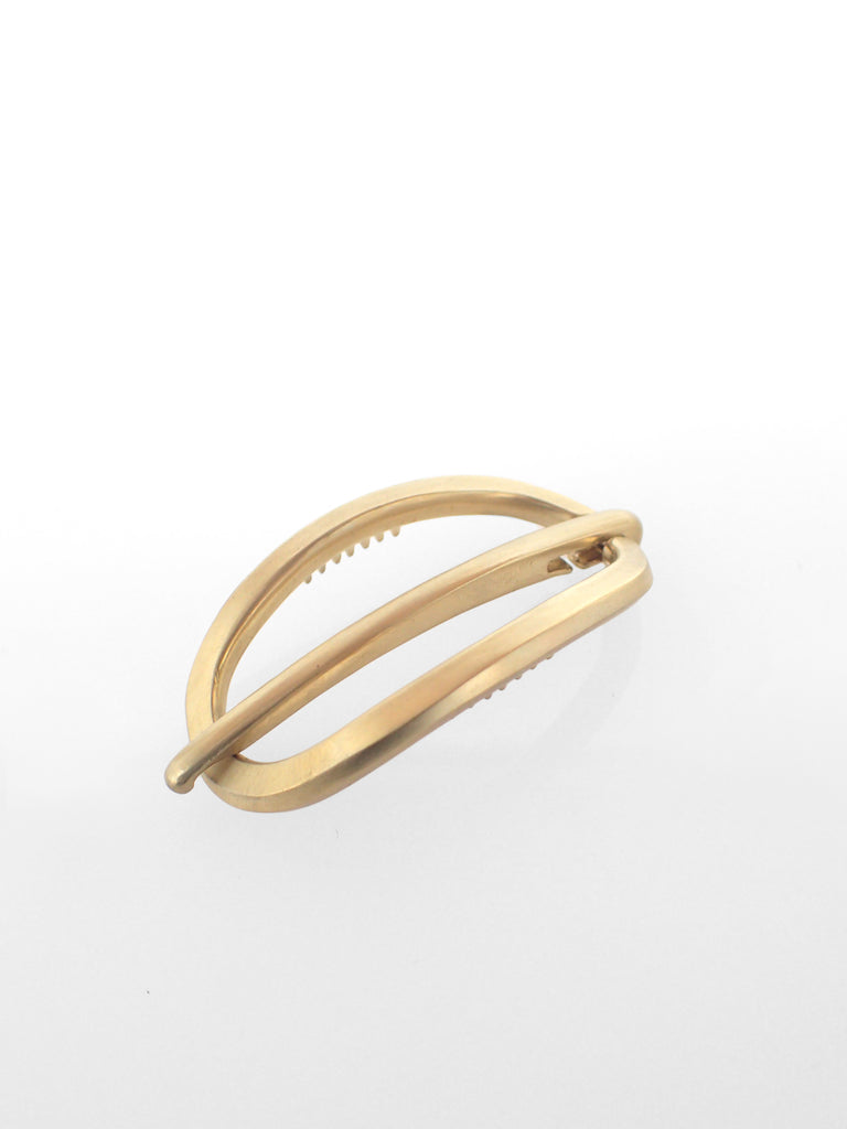 Rosen Latch Barrette / Brass